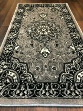 Modern/traditional Aprox 4x2 60cm x110cm New Rugs Woven Hand Carved Nice Grey.